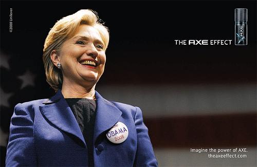 Hillary und der AXE Effect