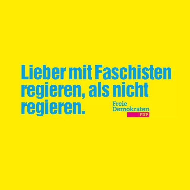 FDP mit Faschisten regieren